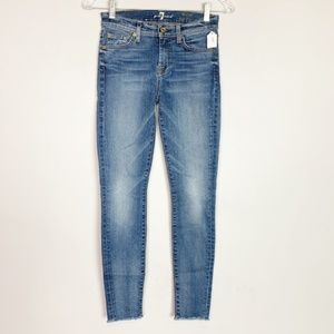 7 for all Mankind raw hem the ankle skinny jeans